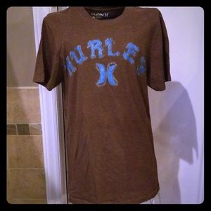 Brown and blue Hurley t shirt